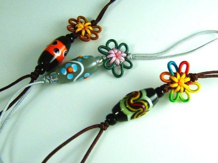 【蜻蜓雅築】小花琉璃珠吊飾