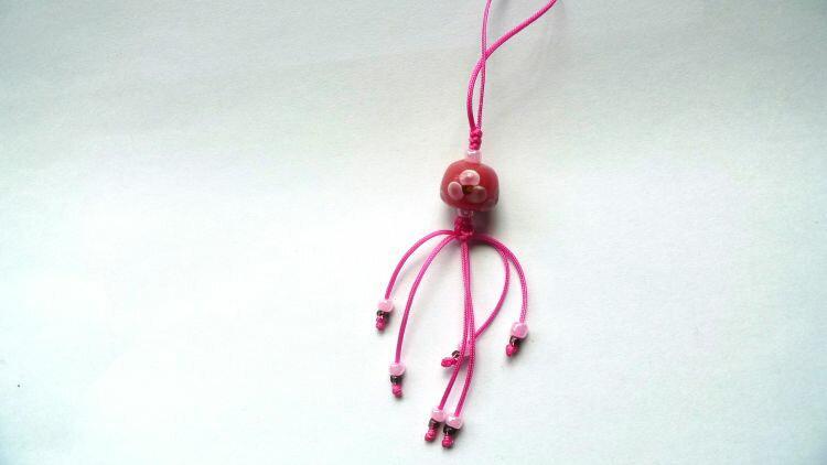 【蜻蜓雅築】跳舞琉璃珠-手機吊飾