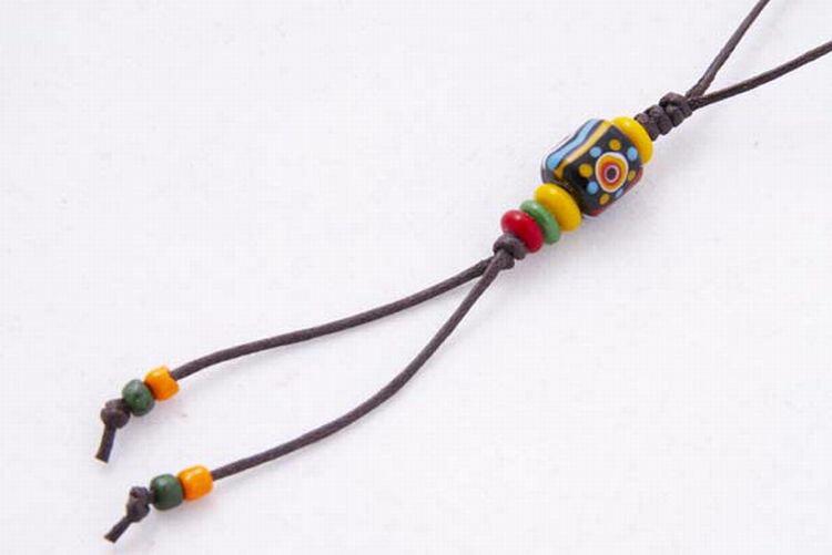 【卡塔】傳統琉璃珠吊飾 太陽之珠