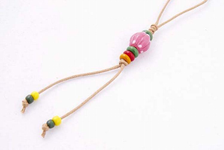 【卡塔】傳統琉璃珠吊飾 月牙之珠