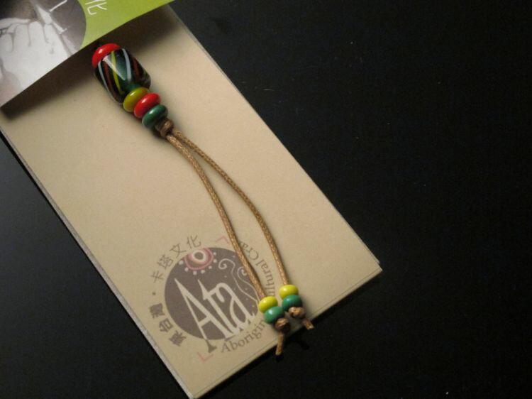 【卡塔】傳統琉璃珠吊飾 編織之珠