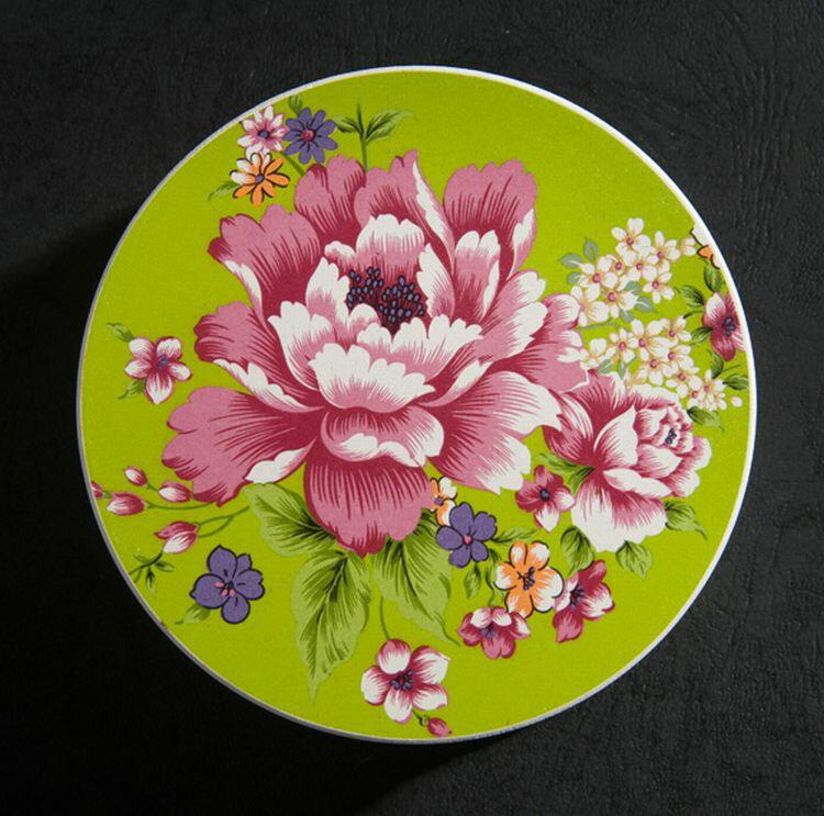 【新太源】台灣花布系列-杯墊 綠