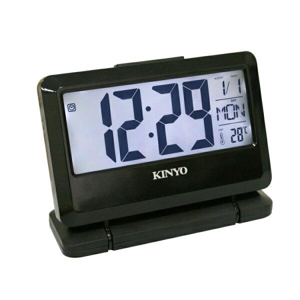 TD-391大字幕LCD多功能電子鐘時鐘鬧鐘掛鐘壁鐘LCD電子鐘【迪特軍】