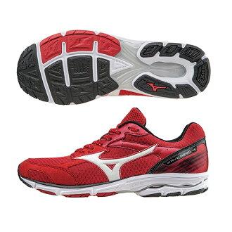 提升速度訓練!WAVE AERO 14 男慢跑鞋 J1GC153502(紅X白)S【美津濃MIZUNO】
