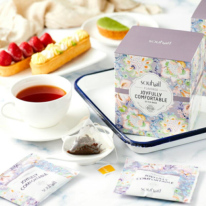 試喝包 Souhait Tea濃甜不膩法式水蜜桃調味紅茶 - Joyfully Comfortable 樂觀自在 0