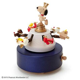 史努比木製音樂盒遊樂園010884海渡