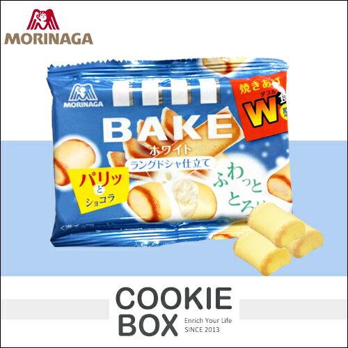日本 MORINAGA 森永 BAKE 白巧克力燒 38g 限定 零食 餅乾 團購 熱銷 伴手禮 *餅乾盒子