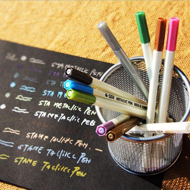 【省錢博士】創意文具DIY相冊黑卡紙寫字斯塔油漆筆 / 金屬筆 - 限時優惠好康折扣
