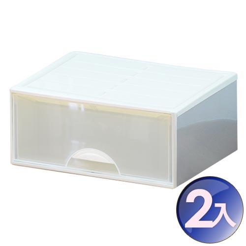 WallyFun 屋麗坊 組合式抽屜整理箱 (單抽式) X2入組