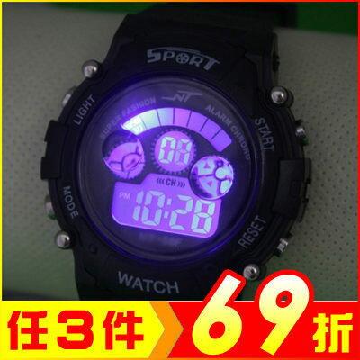 現貨 七彩夜光多功能運動電子手錶 (附精裝盒)【AE11195】i-Style居家生活