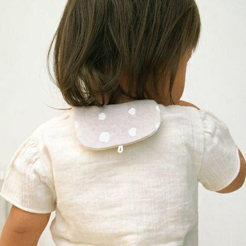 小烏龜精品童裝店:【日本Hoppetta姊妹牌】NAOMI有機棉吸汗巾(咖啡灰)
