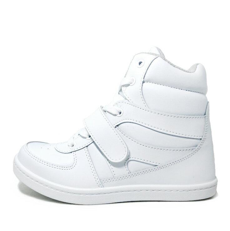 【滿額領券↘折$120】女款素色5cm內增高休閒鞋 [37085] 白 MIT台灣製造【巷子屋】
