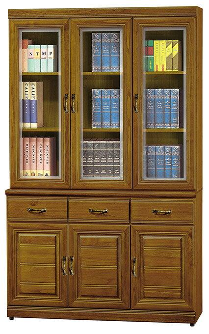 ~尚品傢俱~HY~A498~05 米森樟木4尺書櫃^(上 下^)