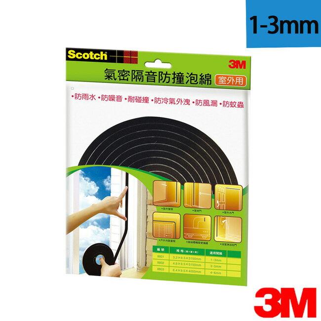 3M 室外用氣密隔音防撞泡棉(1-3mm)