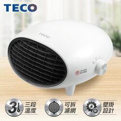 【TECO東元】 可壁掛陶瓷電暖器-白 YN1251CBW