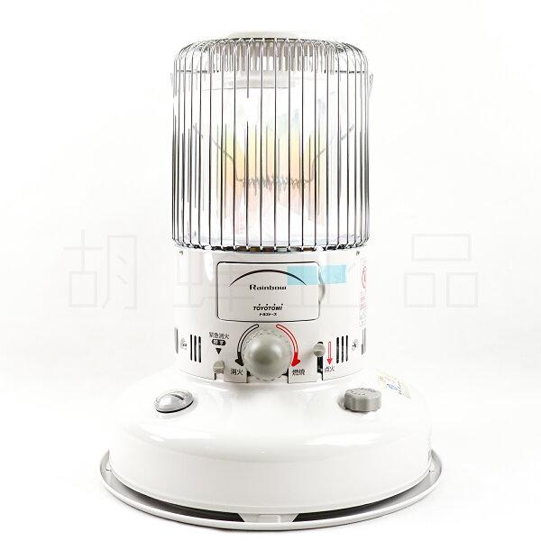 全球購:現貨日本製TOYOTOMIRB-25F-W七彩光圈煤油爐煤油暖爐白色KS-67H可參考