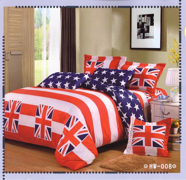 ✧臺灣製✧舒柔棉磨毛超細纖維床包組《HW-008》5X6.2尺雙人床包組+兩用被 四件組◤彩虹森林◥