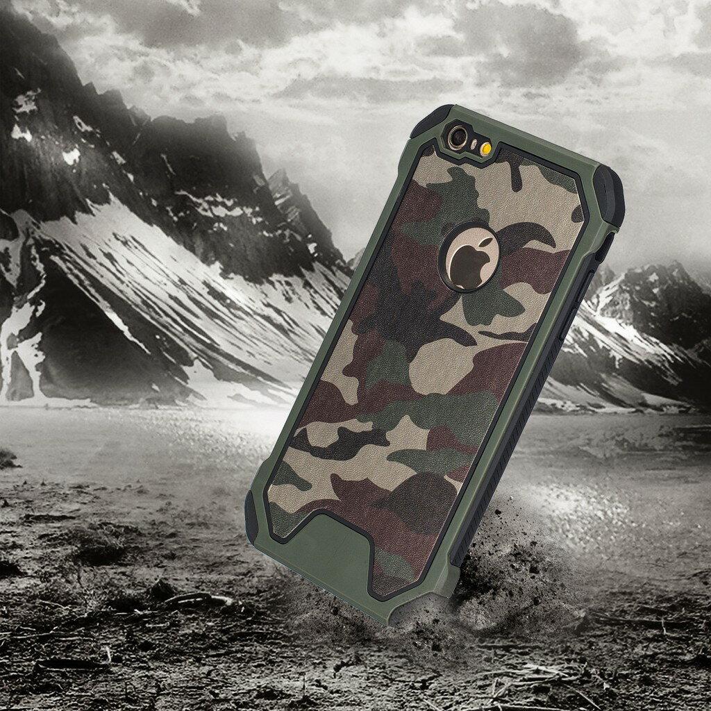 迷彩 iphone7 Plus iPhone 6/6s 軍事迷彩系列保護套防摔抗震 矽膠套+PC背蓋【AB344】