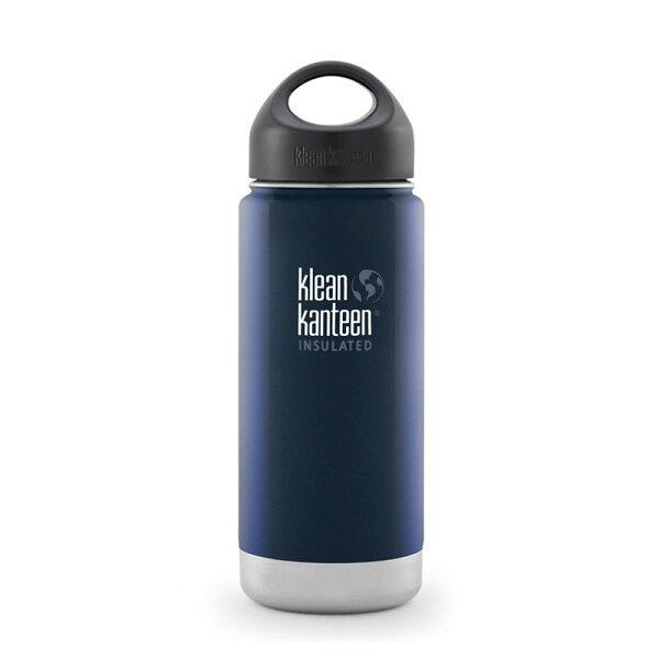├登山樂┤美國KleanKanteen寬口保溫鋼瓶16oz473ml深海藍#K16VWSSL-DS