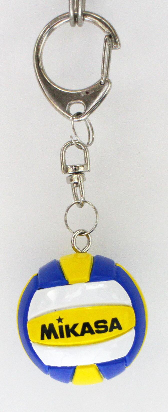 [陽光樂活=] 明星排球鑰匙圈 MIKASA 黃白藍