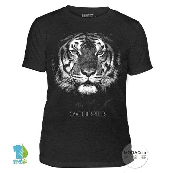 【摩達客】(現貨)美國TheMountain保育系列拯救老虎中性短袖T恤