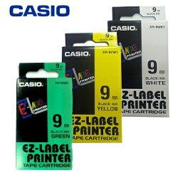 CASIO卡西歐 9mm 色帶 標籤帶 (適用KL-170 Plus 標籤機) 公司貨