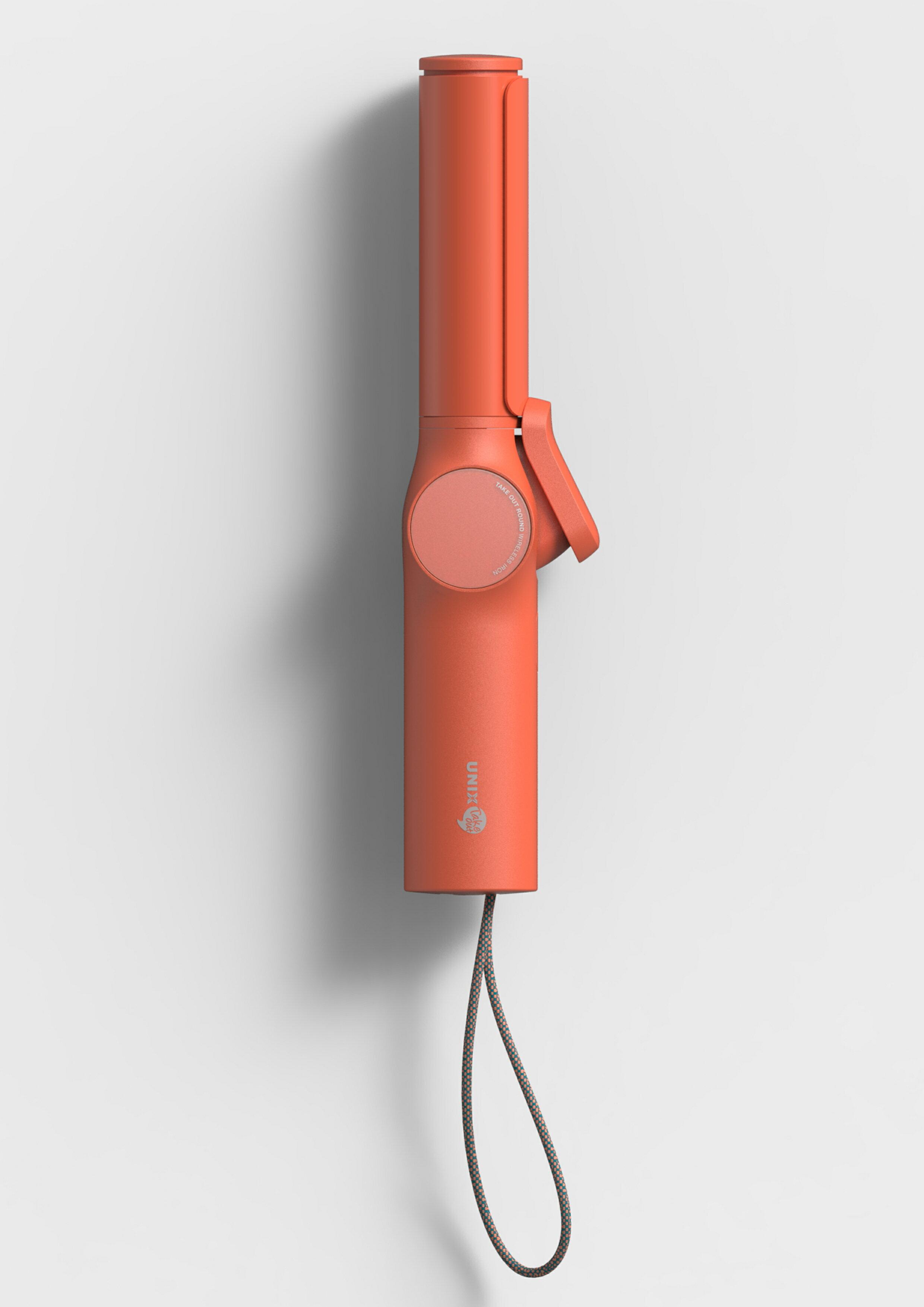 UNIX 型動無線捲髮棒 珊瑚紅(贈Type-C線組*1)