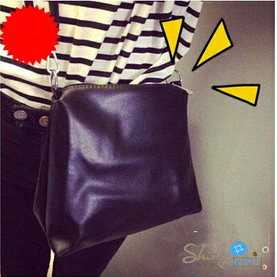 【P019】shiny藍格子-學院風‧韓版斜挎簡約複古原宿小包斜跨包方形單肩包