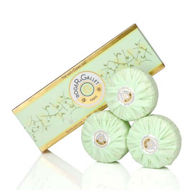 Roger & Gallet 綠茶香氛香水皂禮盒 3x100g【巴黎好購】香皂 肥皂 沐浴