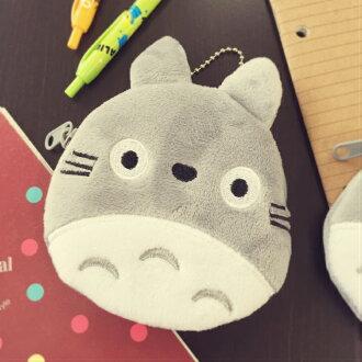 PGS7 日本卡通系列商品 - 龍貓 となりのトトロ Totoro 絨毛 圓型 零錢包 收納包 吉卜力 宮崎駿
