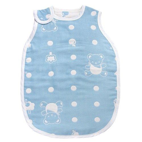 Baby City娃娃城 - 六層紗背心防踢睡袍 (藍) S號 0