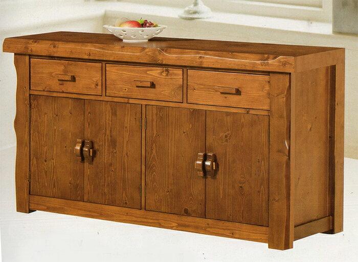 ~尚品傢俱~JJ~7902 5.3尺古道全實木餐櫃