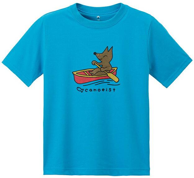 Mont-Bell 兒童排汗短T 幼童排汗衣 7-11歲 Wickron 1114330 SEBL 划舟狐狸 岩藍