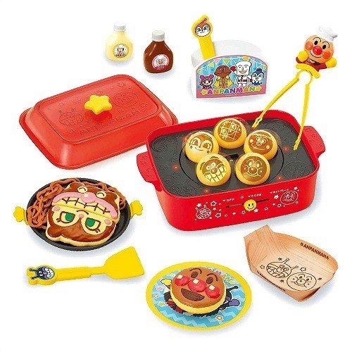 日式大阪燒章魚燒尖盤玩具 麵包超人 兒童最愛 烘焙 家家酒 角色扮演 兒童玩具 親子DIY 真愛日本