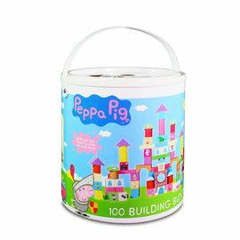 【淘氣寶寶】粉紅豬小妹配對圖型桶裝積木組