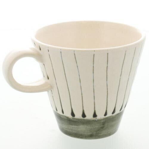 色釉十草陶杯 白 0