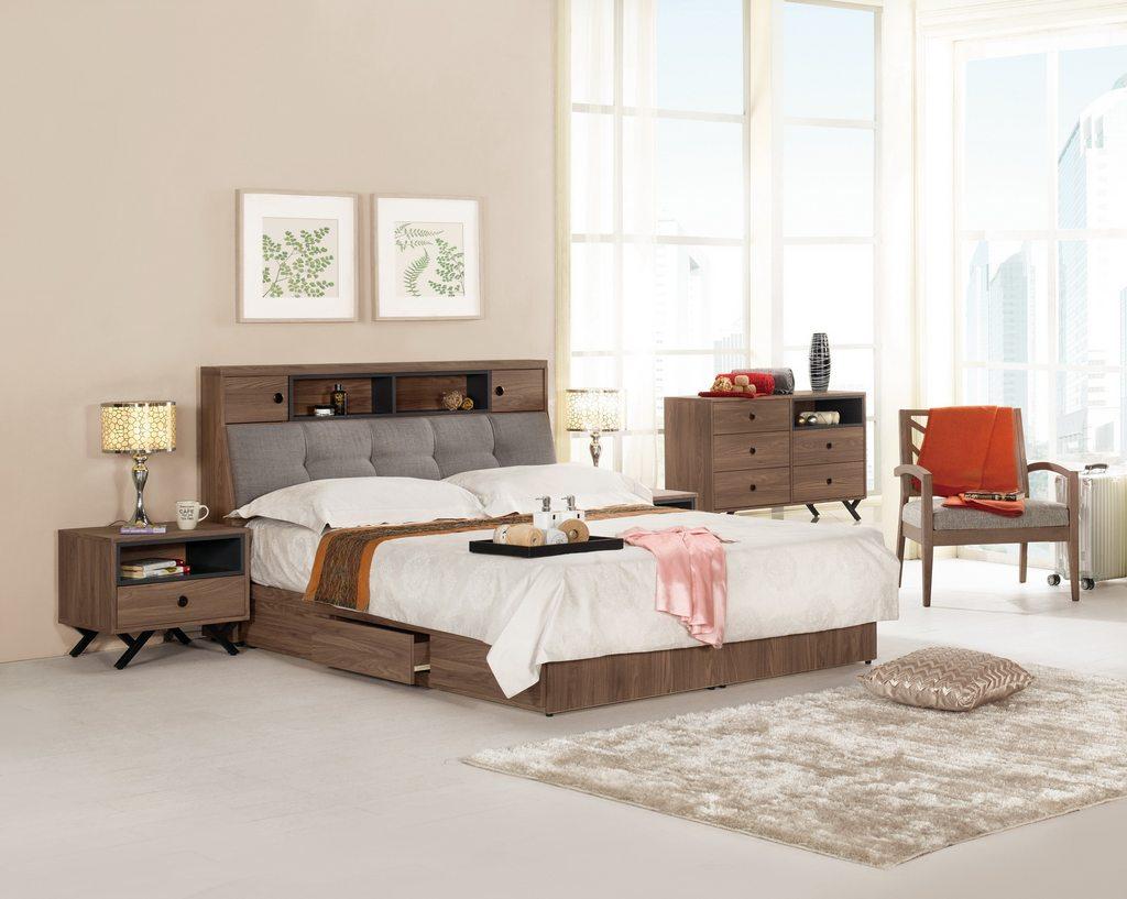 【 尚品傢俱】CM-613-1 約克6尺被櫥式雙人床 / 5尺被櫥式雙人床 / 3.5尺被櫥式單人床