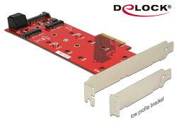 [富廉網] Delock M.2 NGFF SSD x 3的PCI express擴充卡 - 89394