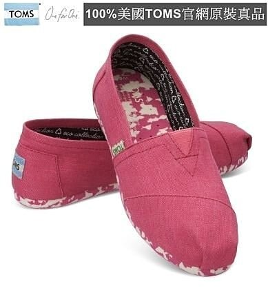 【Cadiz】美國正品 TOMS 粉紅花底素食平底鞋 [Pink Earthwise PLUSfoam Women's/ 代購/ 現貨]