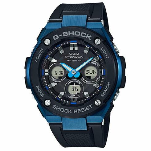 CASIOG-SHOCKGST-S300G-1A2絕對強悍時尚雙顯多功能腕錶50mm
