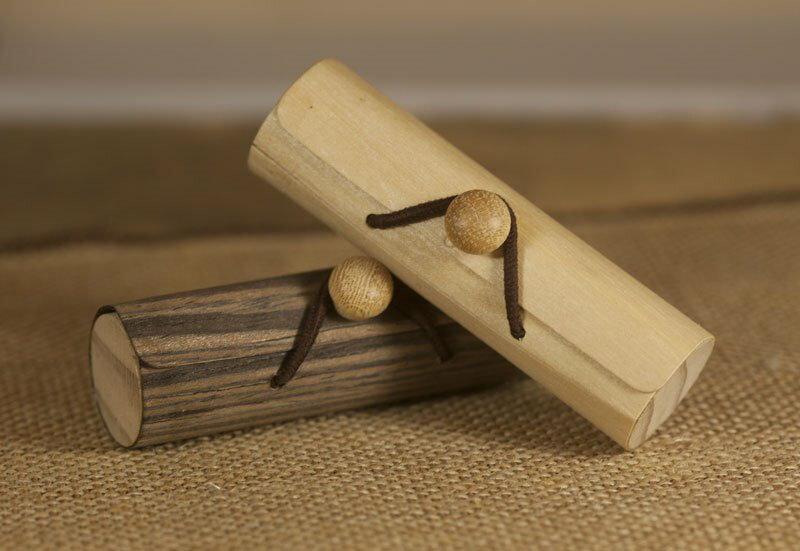 精油木皮盒 ( 圖右 空白款 )