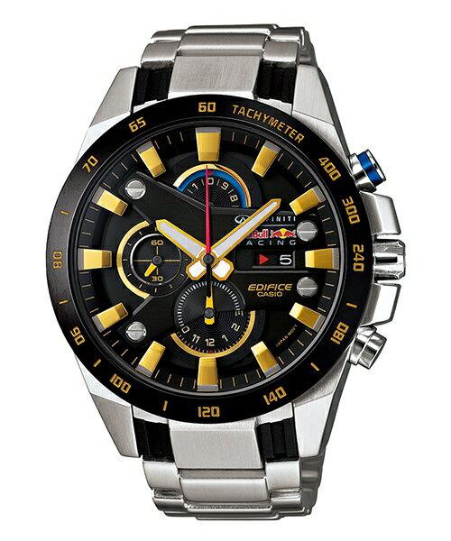 CASIO EDIFICE EFR-540RB-1A 紅牛3D賽車時尚流行腕錶/黑面48mm