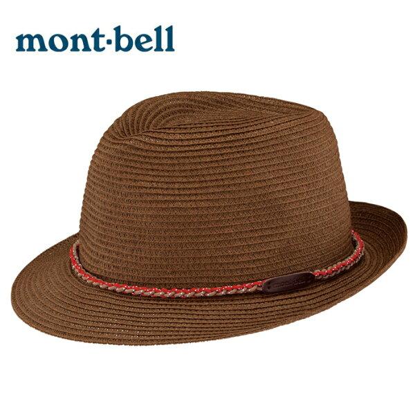 【mont-bell日本】Material紳士帽圓盤帽大盤帽遮陽帽藤編帽草帽深棕色/2108173