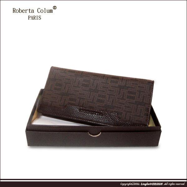 良林皮件:【RobertaColum】諾貝達雅痞幾何系列長夾RM-28708