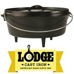 【鄉野情戶外用品店】 Lodge |美國|  鑄鐵燉鍋/荷蘭鍋 鑄鐵鍋/L12CO3 《6QT》