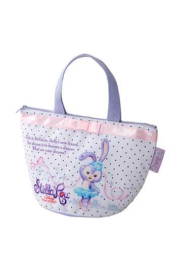 X射線【C434001】日本東京迪士尼代購-史黛拉 Stella Lou 保溫餐袋,美妝小物包/圓形化妝包/兔子/面紙包/化妝包