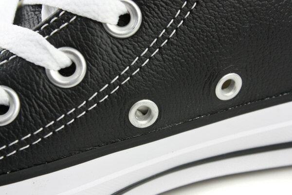 CONVERSE Chuck Taylor All Star Leather 皮革 舒適 基本款 戶外休閒鞋 黑 男女款 132170C no059 3