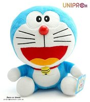 小叮噹週邊商品推薦【UNIPRO】哆啦A夢 Doraemon 小叮噹 8.5吋 坐姿 絨毛玩偶 娃娃 禮物