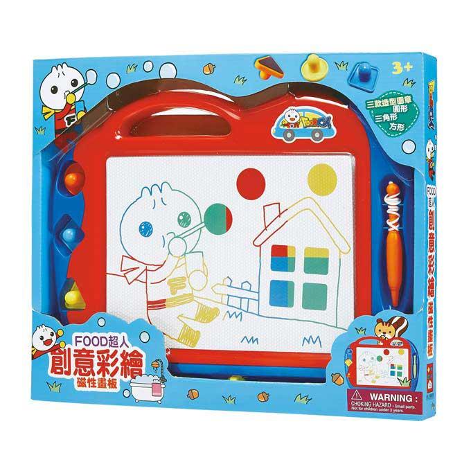 磁性畫板~可重複白板~磁性寫字版~創意彩繪磁性畫板-FOOD超人~EMMA商城