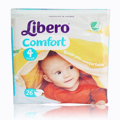 『121婦嬰用品館』麗貝樂 Libero 嬰兒紙尿褲(尿布) L 4號-26片x8包/箱